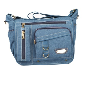 Latest Stylish Womens Blue Denim Jeans Bag Shoulder Book With Many Pockets Product On