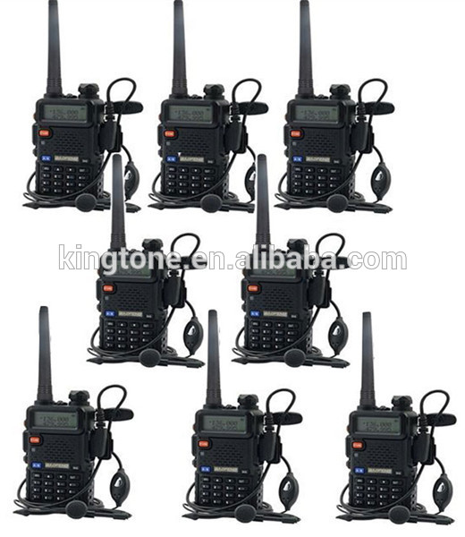 Baofeng UV-5R Walkie Talkie 5W Dual Band Two Way Radio 128CH UHF VHF FM VOX Pofung UV5R ham radio Dual Display free headset