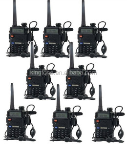 Baofeng UV-5R Walkie Talkie 5W Dual Band Two Way Radio 128CH UHF VHF FM VOX Pofung UV5R ham radio Dual Display free headset