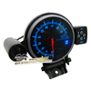 Blue LCD 95mm Tachometer RPM Racing Meter With Stepper Motor + Shift Light