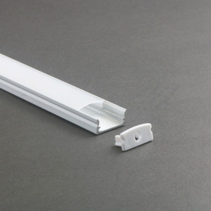 Aluminum and pc diffuser extrusion body material recessed aluminum led profile for strips