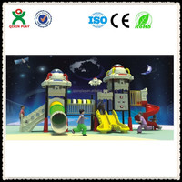 Guangzhou factory children family inflatable playground/plastic kids rock climbing wall/trackless train kiddie ride for QX-B0073