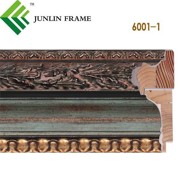 Wholesale oil painting frame Gold and silver European wood moulding
