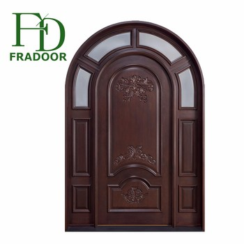 Chinese Factory Interior Solid Wooden Round Top Arch Main