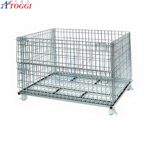 heavy duty stackable wire mesh welded metallic container