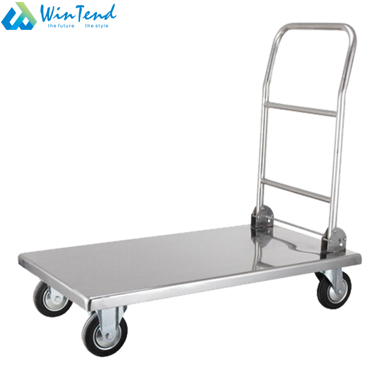 stainless steel platform foldable hand trolley for transport buy