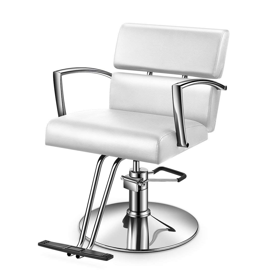 Miraculous Buy Baasha White Salon Chair For Hair Stylist Hydraulic Bralicious Painted Fabric Chair Ideas Braliciousco