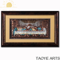 FY JY186 3d Last Supper framed painting for home decor