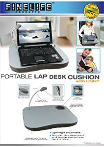 Multi-Purpose Lap Desk With Built-in Foam Cushion, Cup Holder, and Adjustable LED Lamp