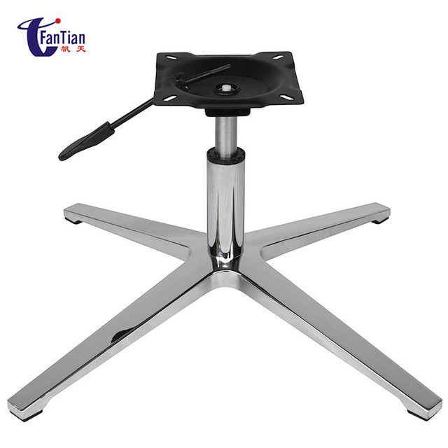Wholesale Furniture China Aluminum Four Star Office Swivel Base With Pneumatic Rod For Chairs