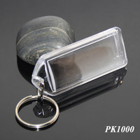PMMA Transparent Acrylic Picture Frames Keyring DIY Insert Printing Photo Clear Plastic Acrylic Keychain