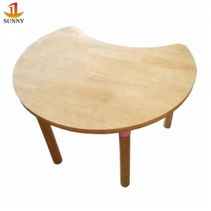 Latest preschool wood round table kids wooden table designs price