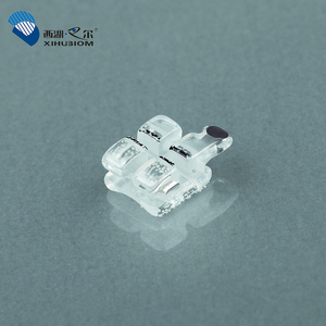 Orthodontic Materials Bracket Clear Sapphire Ceramic Brackets Brace