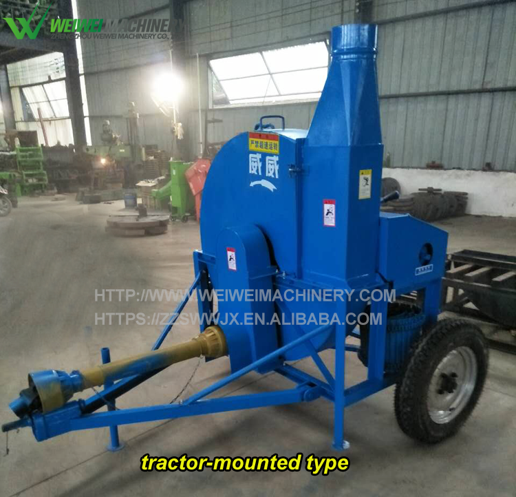 Dairy agricultural grass chopper machine farm grass cutter animal feed hay chaff cutter