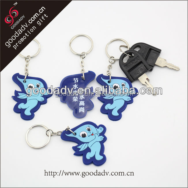 2014 Advertising Specialty OEM 2D/3D blue angel soft pvc rubber keychain