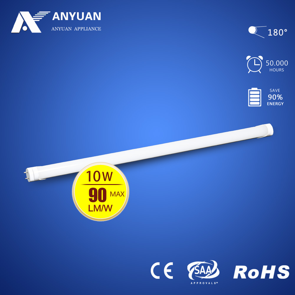 High Lumens CE ROHS T8 Led Tube 600mm 10W