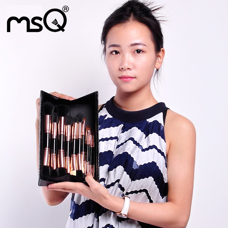 MSQ 14pcs Double Sided Brush Makeup Private Label Double End Cosmetics Brush Wholesale