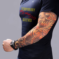 halloween skull printFashion Elastic Tattoo Sleeves Riding UV Care Cool Printed Sun-proof Arm Protection Glove Temporary