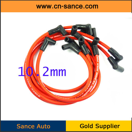 NICE QUALITY New Spark Plug Cable Wire 10.2MM Fits FOR Chevy Camaro V6 3.8L Pontiac Firebird V6