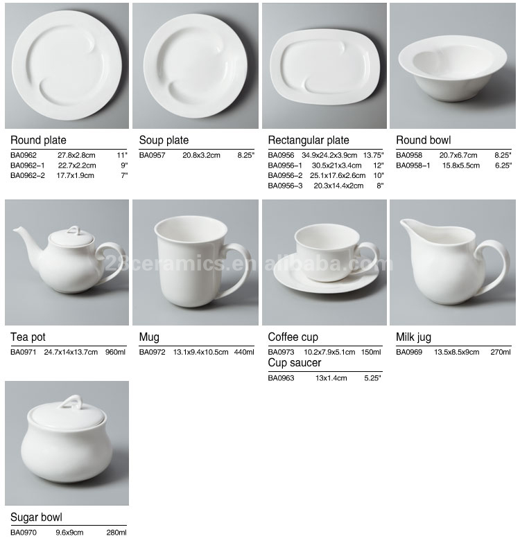Made In China High-end Tableware For Restaurant Price Restaurant And ...