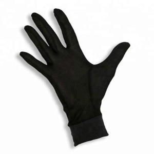 Black Silk Pure Thermal Liner Inner Ski Bike Cycle Daily Light Weight Satin Safety Outdoor Work Gloves