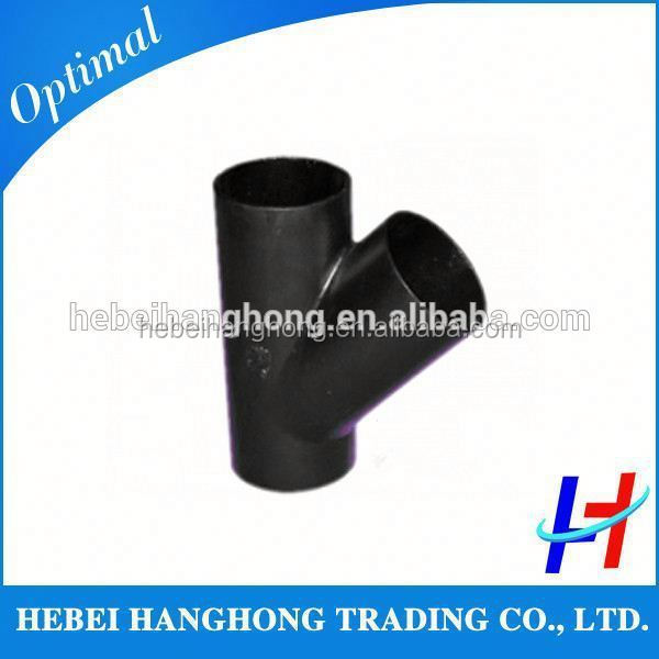 Trade Assurance Supplier a234 wpb carbon steel pipe branch 45 degree tee pipe fitting lateral tee