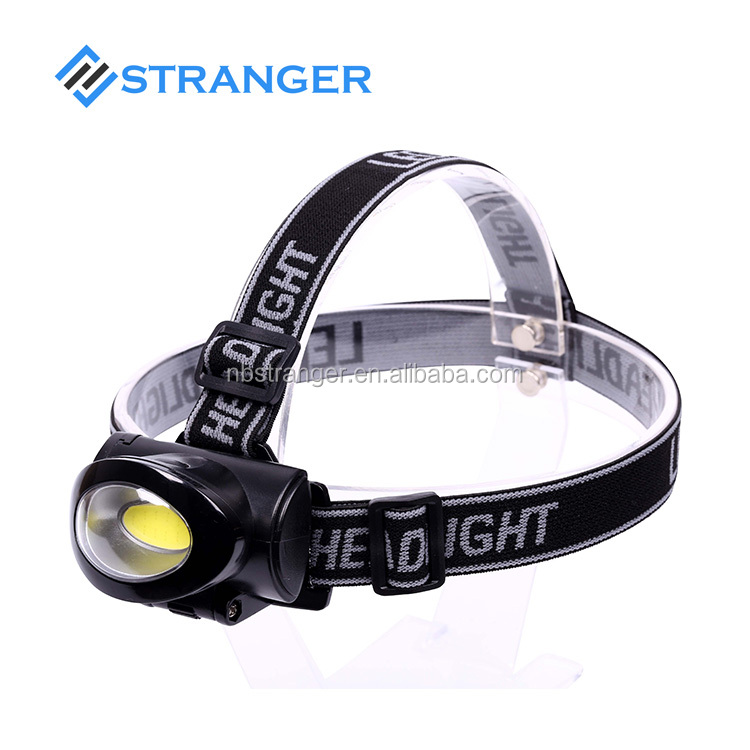 3W COB LED Headlamp With AAA Battery for outdoor hiking