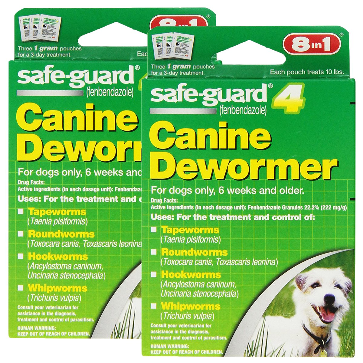 Excel 8in1 Safe-Guard Canine Dewormer for Dogs, 3-Day Treatment