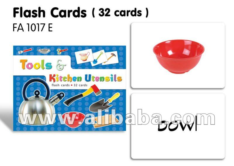 Flash Cards(32 Cards)-tools & Kitchen Utensils - Buy English Flash Cards  Product on Alibaba com