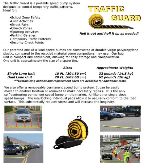 Heavy Duty Rubber Speed Bump Speed Hump