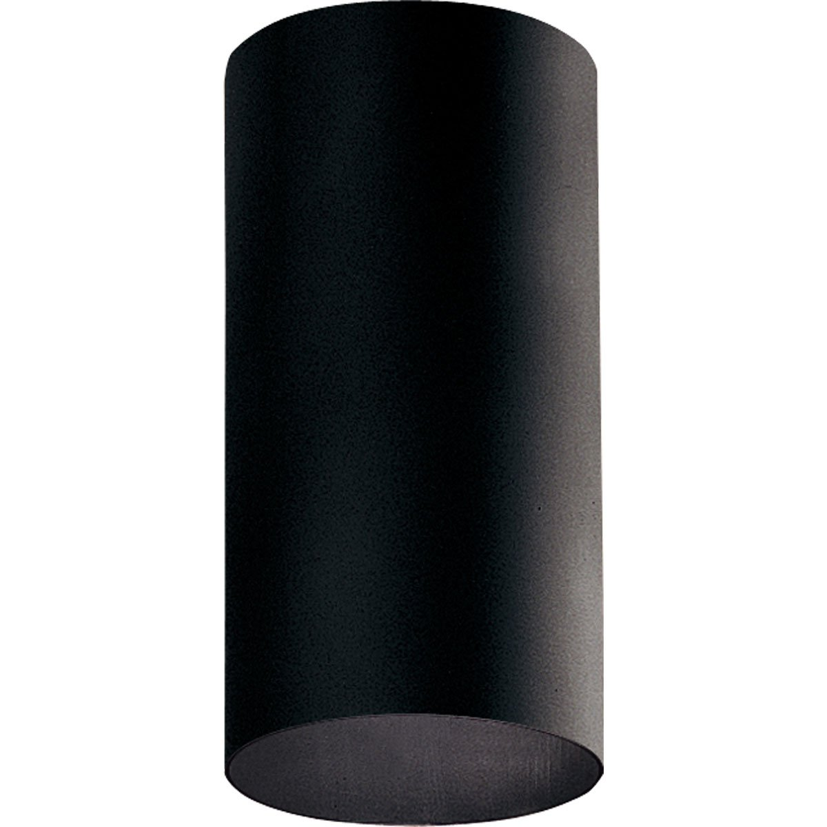 Progress Lighting P5741-31 6-Inch Flush Mount Cylinder with Heavy Duty Aluminum Construction Powder Coated Finish and UL Listed For Wet Locations, Black