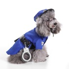 Dog Christmas Costume Cat Holiday Clothes Pet Police Uniforms Cosplay Jacket