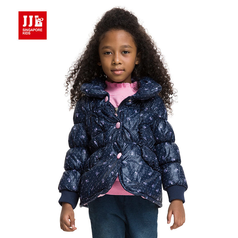 girls winter coat 2015 brand designer kids coat jacket printing casual baby girls jacket children outerwear