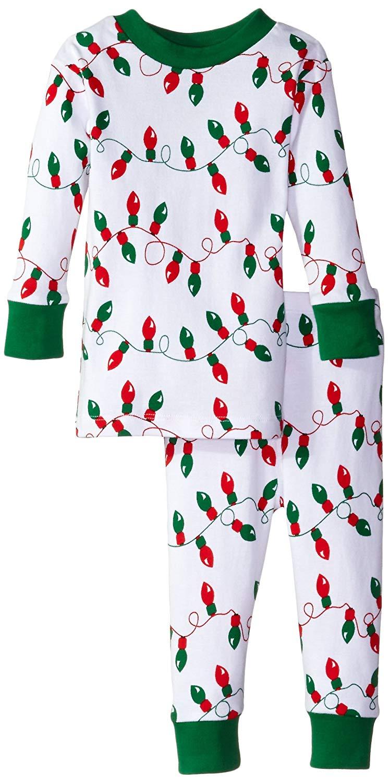 e876809dc9 Get Quotations · New Jammies Baby Boys  Organic Pajamas Christmas Lights