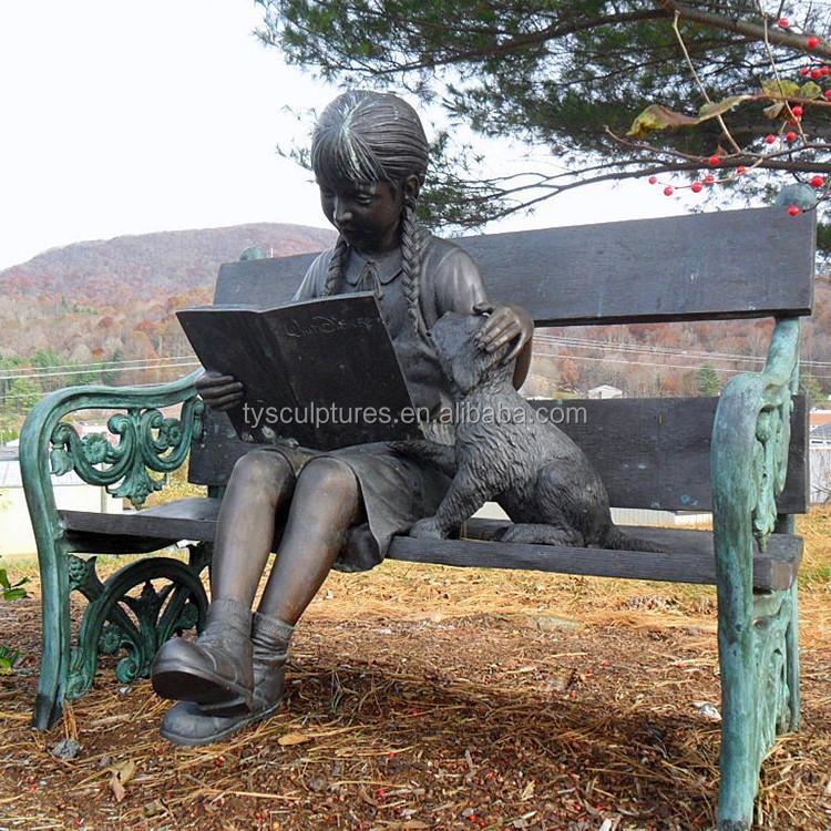 Life Size Garden Landsacpe Decoration Sculpture Bronze Boy Playing Golf  Statue For Outdoor Park