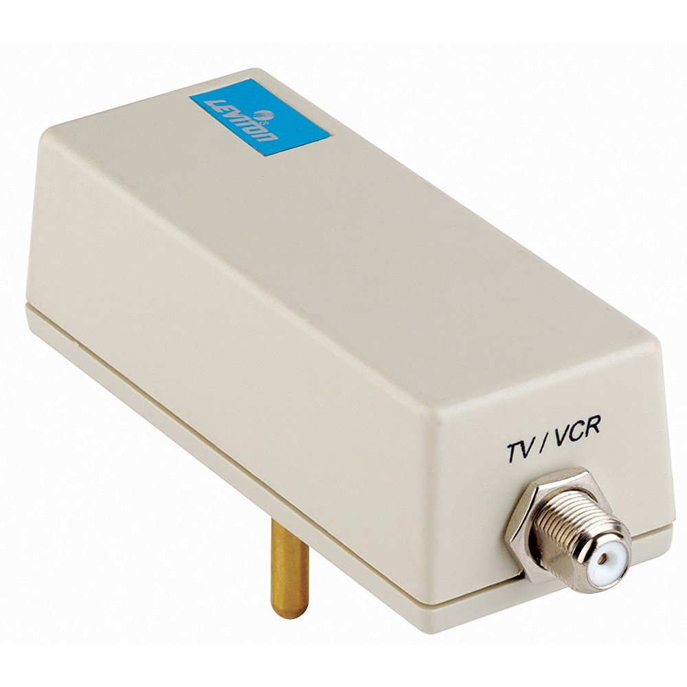 Buy Leviton 5350-PC 2-Wire Coax Low-Voltage and Data Line, Surge ...