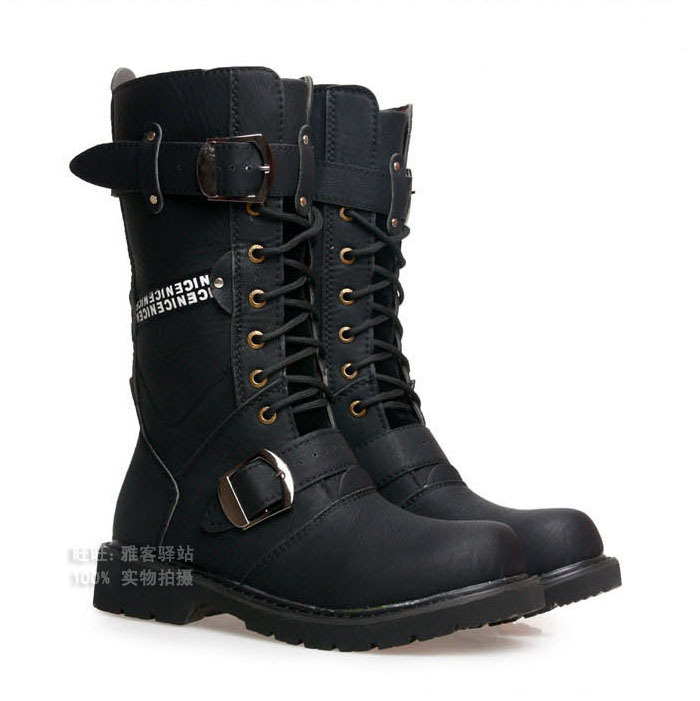 2012 male mens high boots riding boots casual high leg