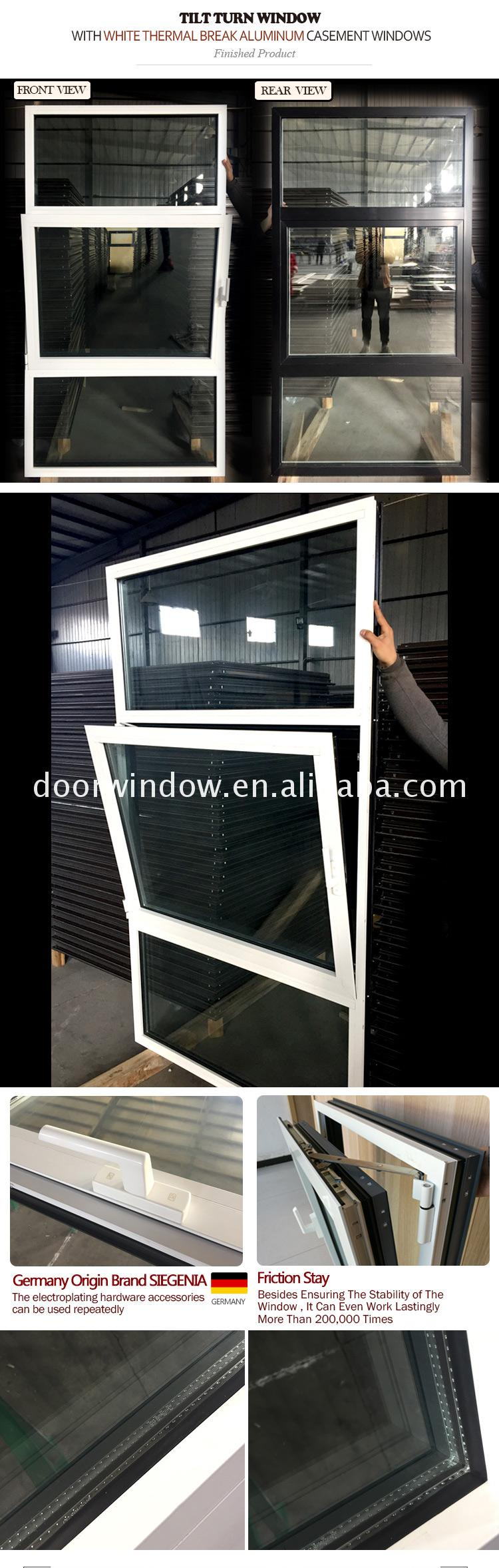 Best selling products Double glazing Aluminum casement Window glass outswing window and door Glass Casement Door