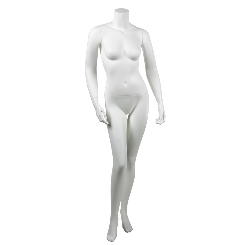 957-04F-PS standing pose.turnable arm Color: Fleshtone ROXYDISPLAY/™ Female mannequin headless style Material: High Quality Plastic