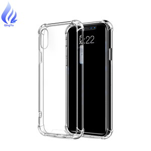 mobile phone accessories cover for iphone x xs xr xs max clear case shockproof airbag tpu bumper case for mobile phone