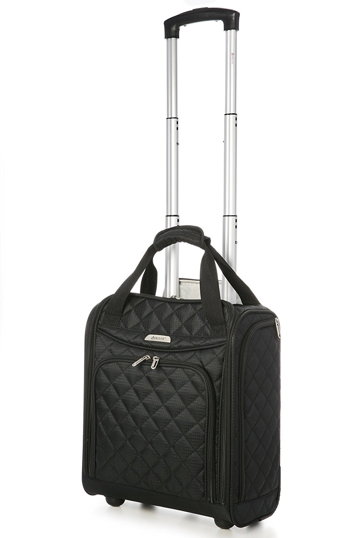 fe20ff0a40 Get Quotations · Aerolite - Aerolite Carry On Under Seat Wheeled Trolley Luggage  Bag