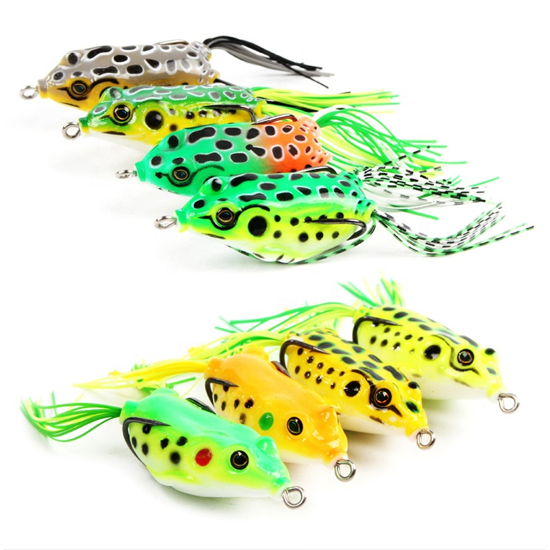 Cheap top water frog lures jump frog lure soft plastic lure фото