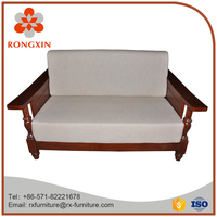 Comfortable wooden sofa for living room