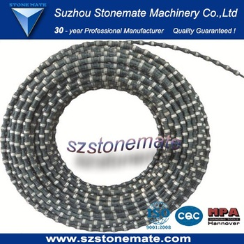 Diamond wire saw for granite approved sintered diamond wire saw blade for cutting