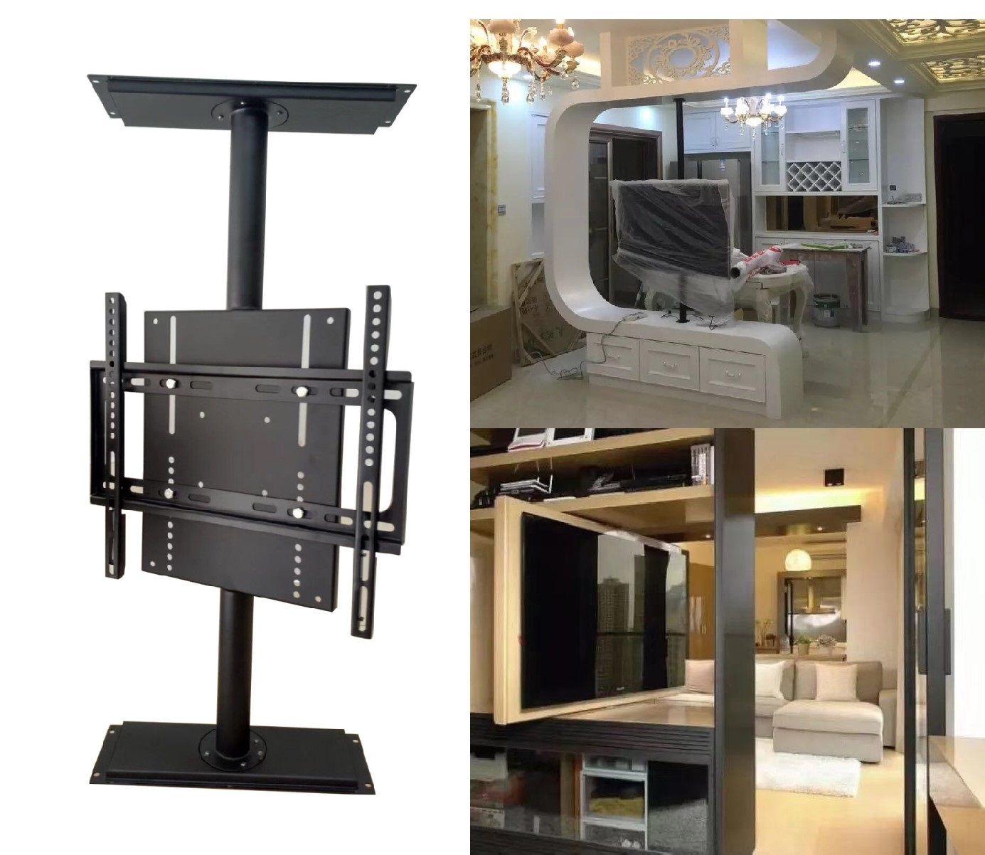 Kinbay Di Bawah Kabinet TV Mengangkat dengan Remote Control TV Stand Lift Vertikal Pop-Up TV-Lift