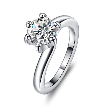 Foreign Trade Hot Ing White Gold G Setting Single Diamond Ring Wedding