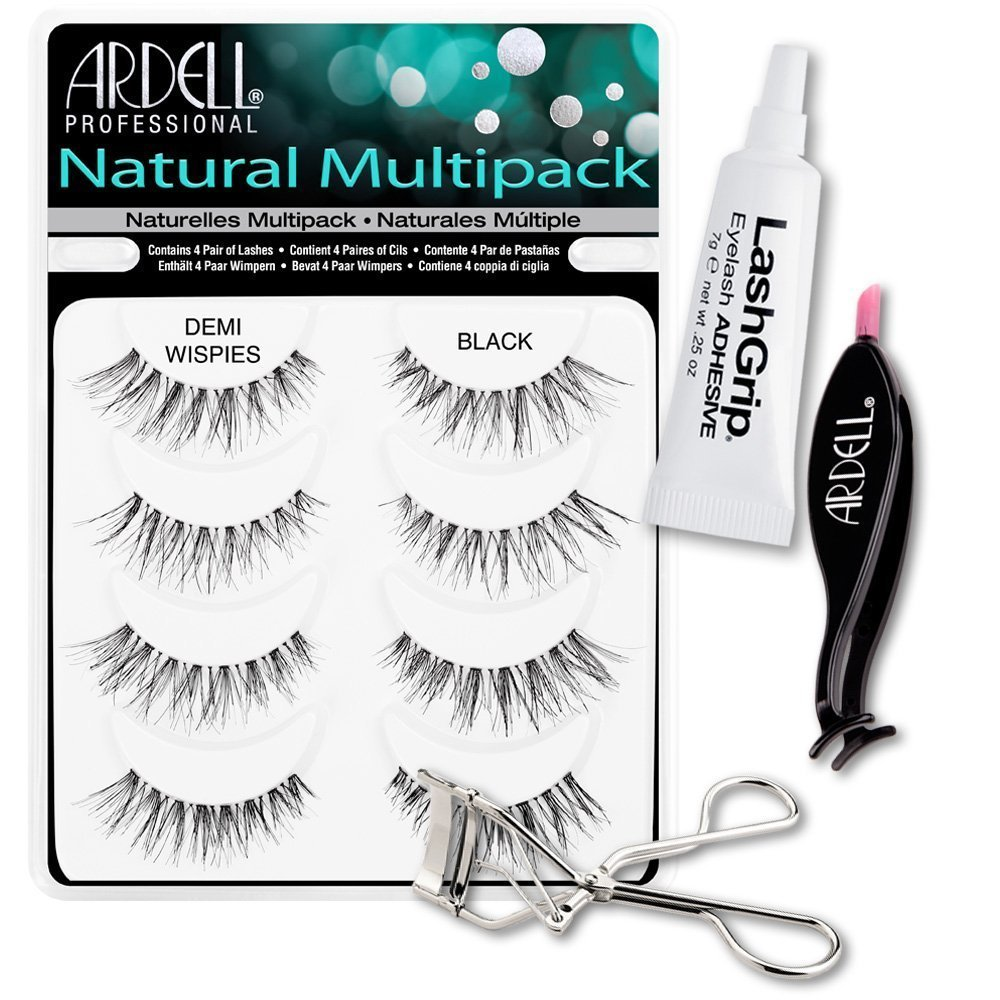 6503f02659d Ardell Fake Eyelashes Demi Wispies Value Pack - Natural Multipack Demi  Wispies (Black),