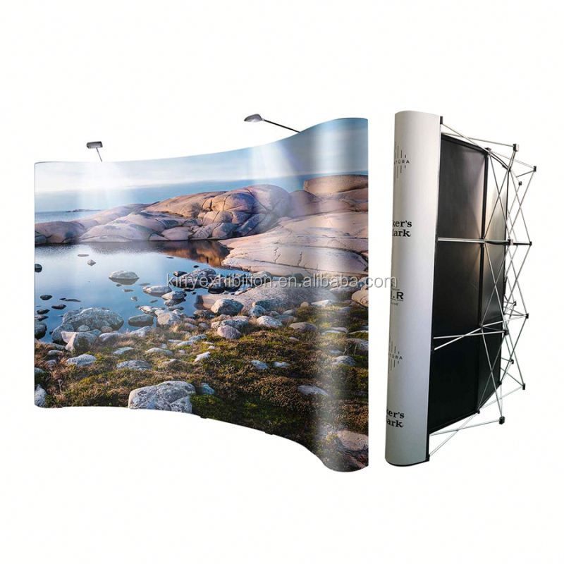 Back Drop Banner Stand Tension Fabric Curved Pop Up Anzeige Pop Up Back-Wall