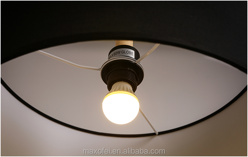 Contemporary Fabric Ceiling Lights Classic Wood Drop Lamp Fixtures ...