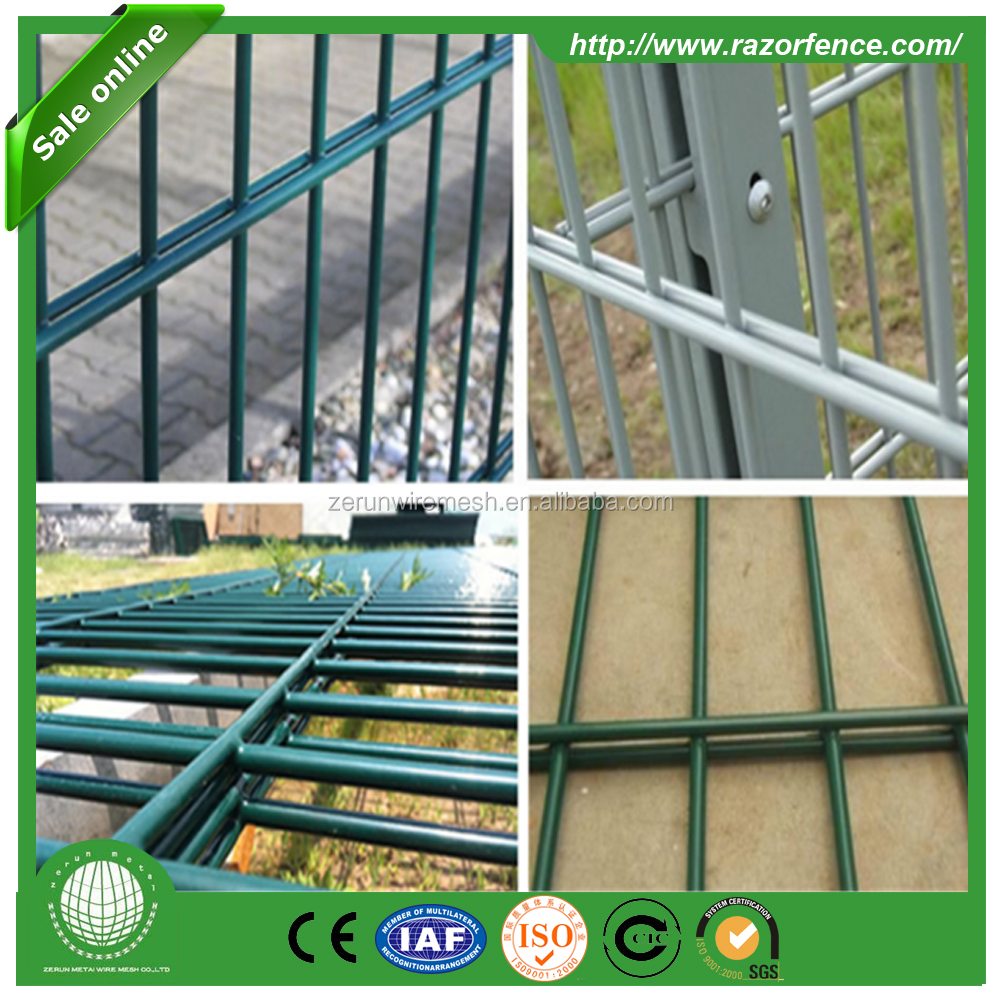 Hanqing PVC peach post double wire fencing used High-tech Development Zone fencing panel factory directly